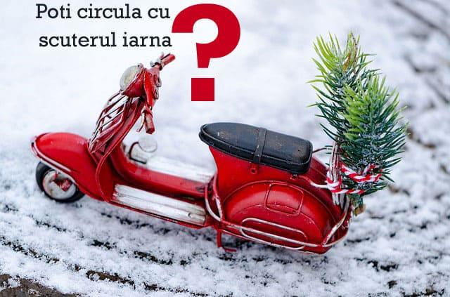 Poti circula cu scuterul iarna?